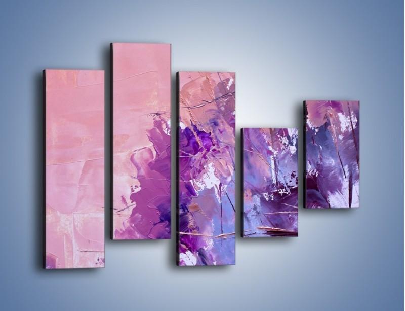 Obraz na płótnie – Mocna barwa fioletu – pięcioczęściowy GR472W4