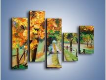 Obraz na płótnie – Aleją wśród drzew – pięcioczęściowy GR487W4
