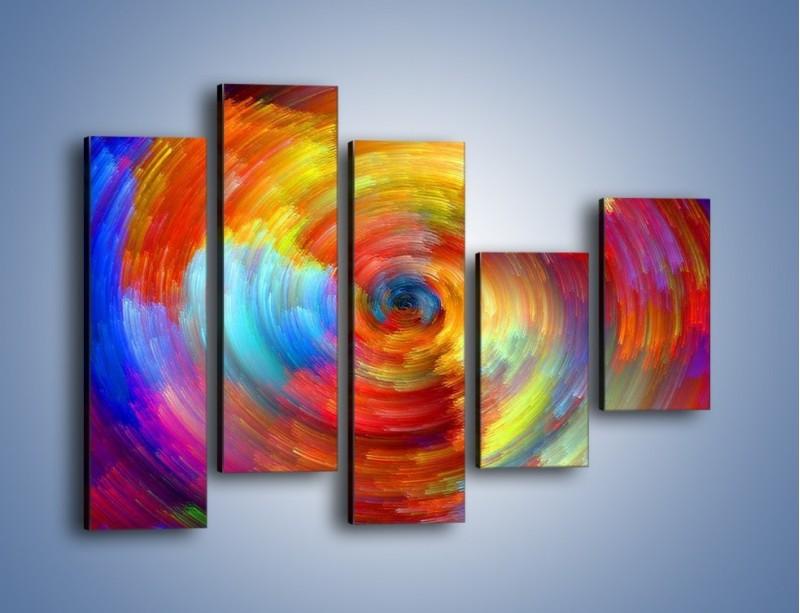 Obraz na płótnie – Kolorowy wir – pięcioczęściowy GR502W4