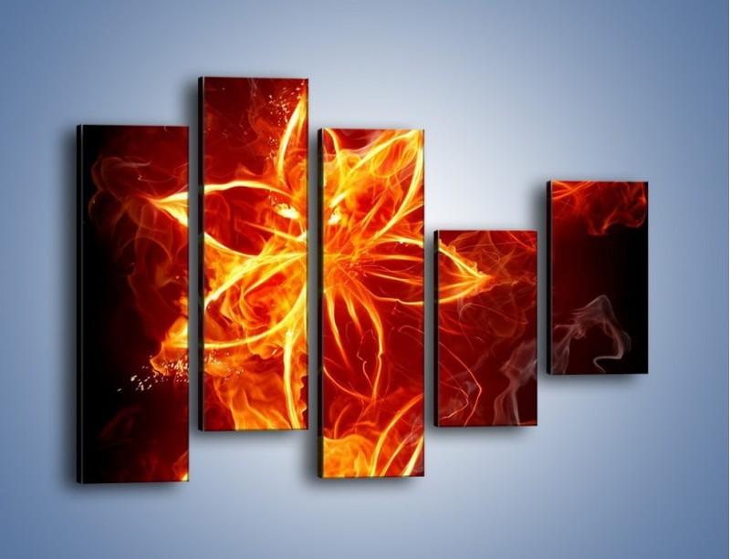 Obraz na płótnie – Spłonąć jak kwiat – pięcioczęściowy GR527W4