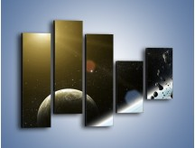 Obraz na płótnie – Dotrzeć między planety – pięcioczęściowy GR534W4