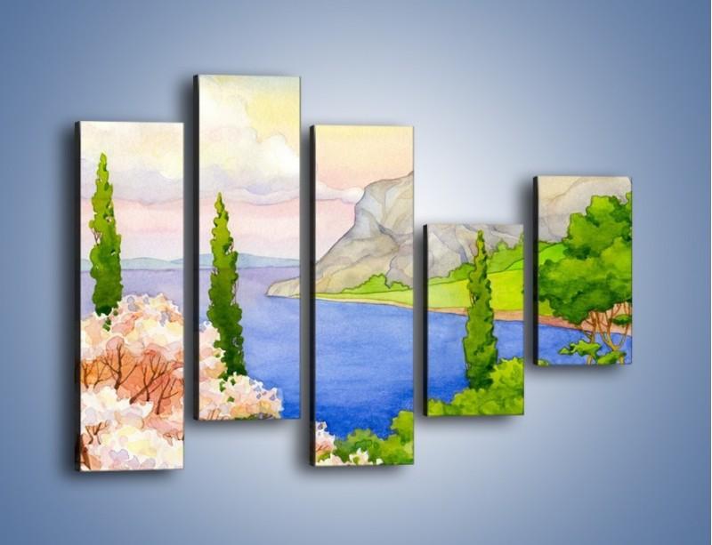 Obraz na płótnie – Krajobraz jak z pocztówki – pięcioczęściowy GR541W4