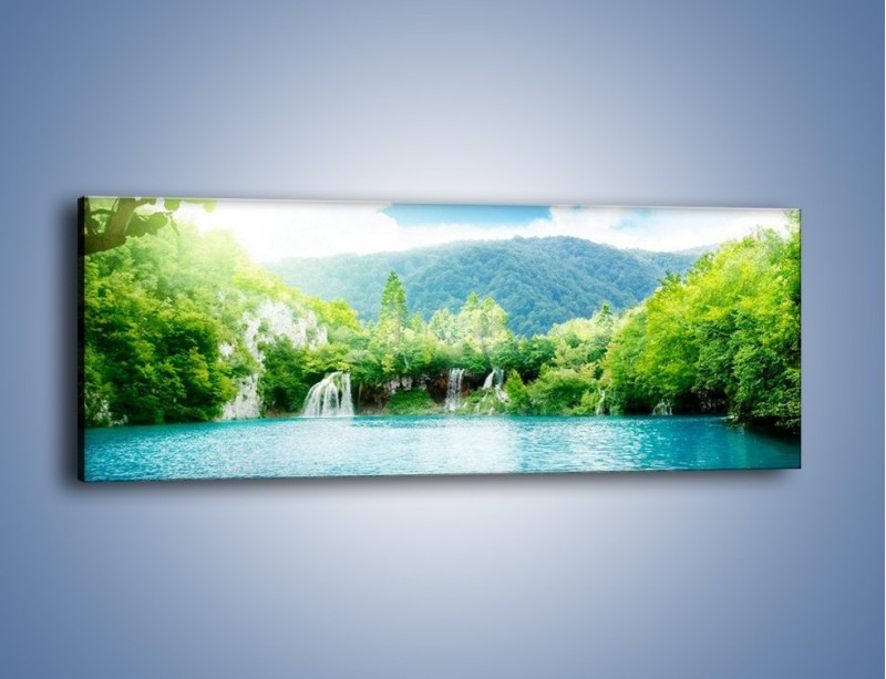 Obraz na płótnie – Kąpiel w chłodnej wodzie – jednoczęściowy panoramiczny KN1200A