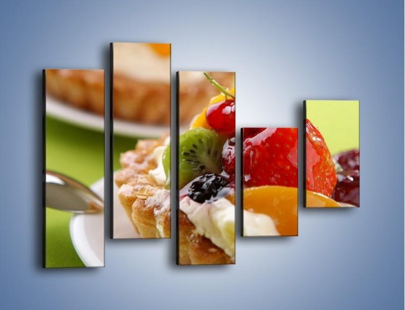 Obraz na płótnie – Owocowe babeczki z kremem – pięcioczęściowy JN021W4