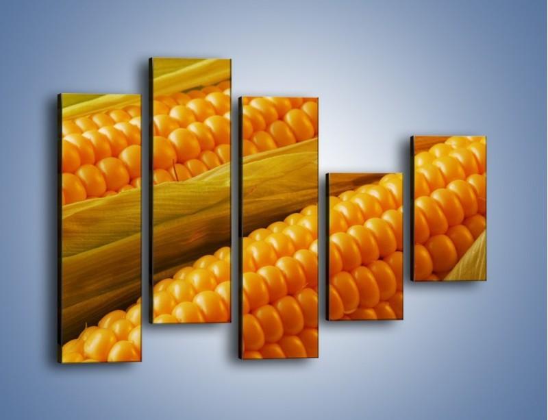 Obraz na płótnie – Kolby dojrzałych kukurydz – pięcioczęściowy JN046W4