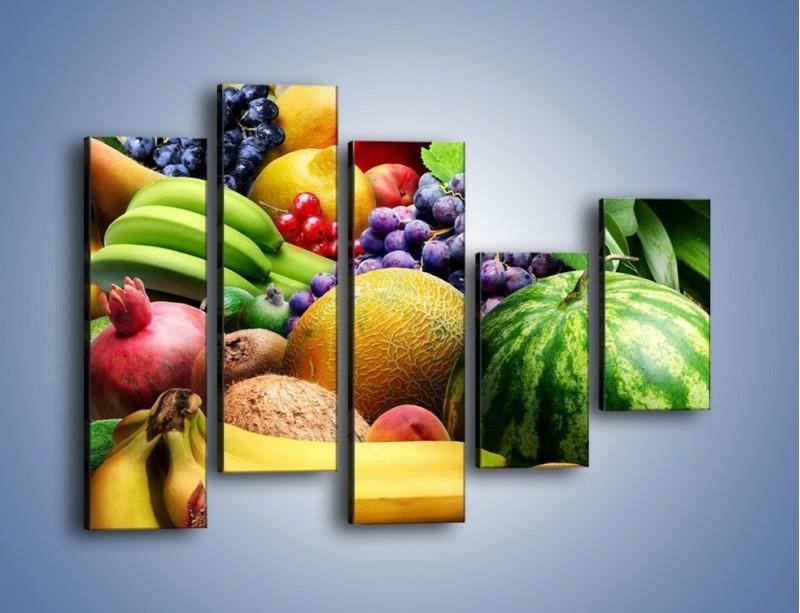 Obraz na płótnie – Stół pełen dojrzałych owoców – pięcioczęściowy JN072W4
