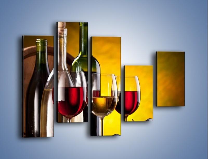 Obraz na płótnie – Wino z orzechami – pięcioczęściowy JN077W4
