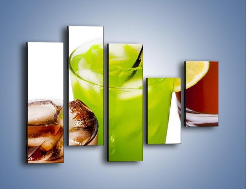 Obraz na płótnie – Kwaśno-słodkie drinki – pięcioczęściowy JN093W4