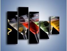 Obraz na płótnie – Alkoholowa zabawa do rana – pięcioczęściowy JN100W4
