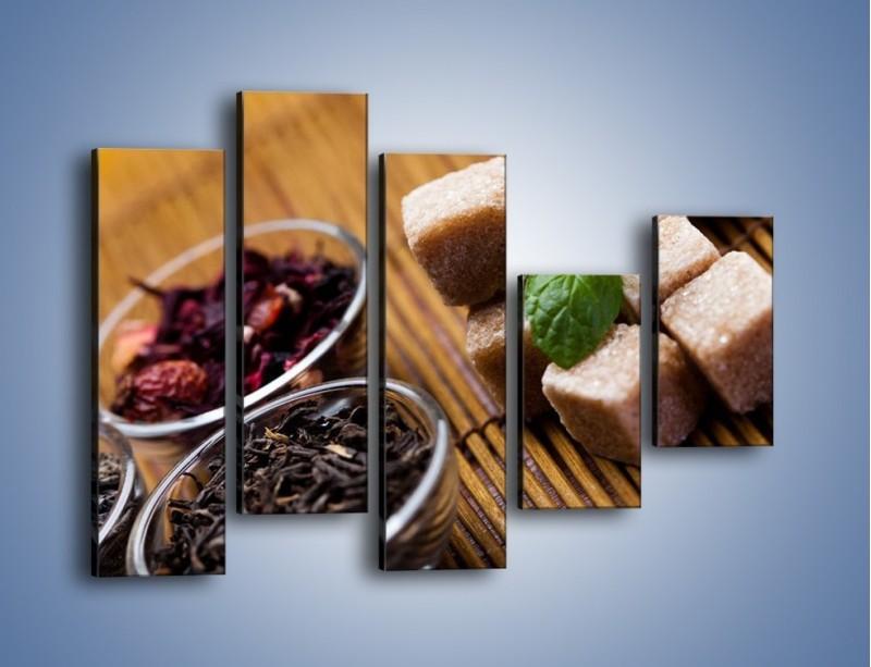 Obraz na płótnie – Ususzone bogactwa natury do herbaty – pięcioczęściowy JN105W4