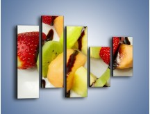 Obraz na płótnie – Czekoladowo-owocowe szaszłyki – pięcioczęściowy JN112W4