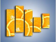 Obraz na płótnie – Pomarańczowy zawrót głowy – pięcioczęściowy JN154W4