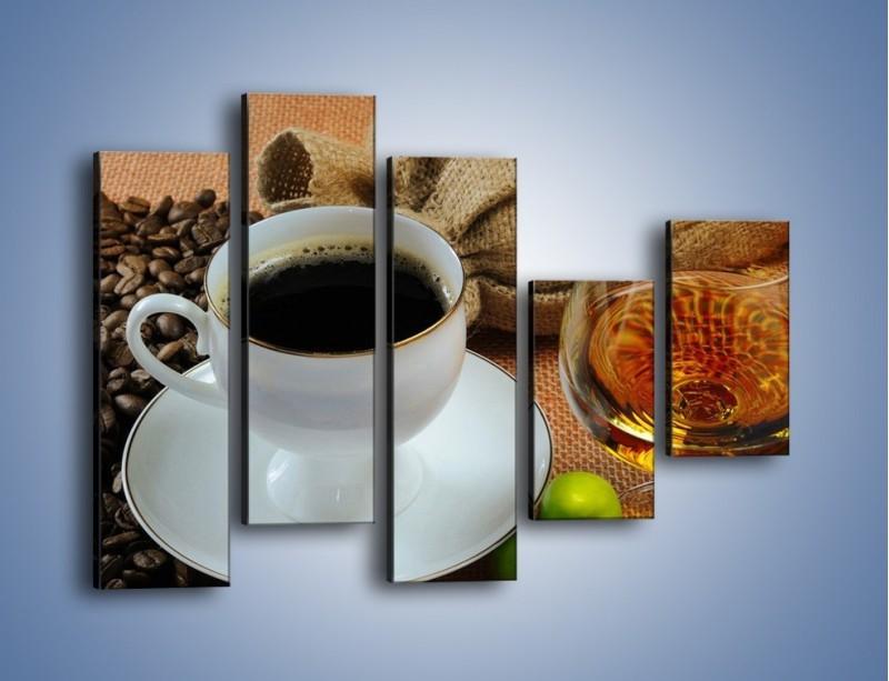 Obraz na płótnie – Wieczorowa kawa z prądem – pięcioczęściowy JN166W4