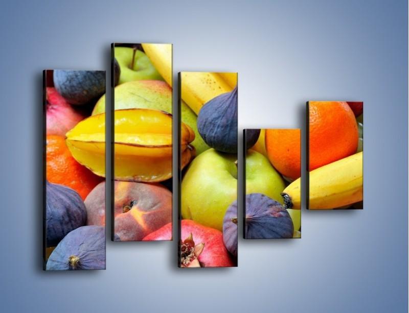 Obraz na płótnie – Owocowe kolorowe witaminki – pięcioczęściowy JN173W4