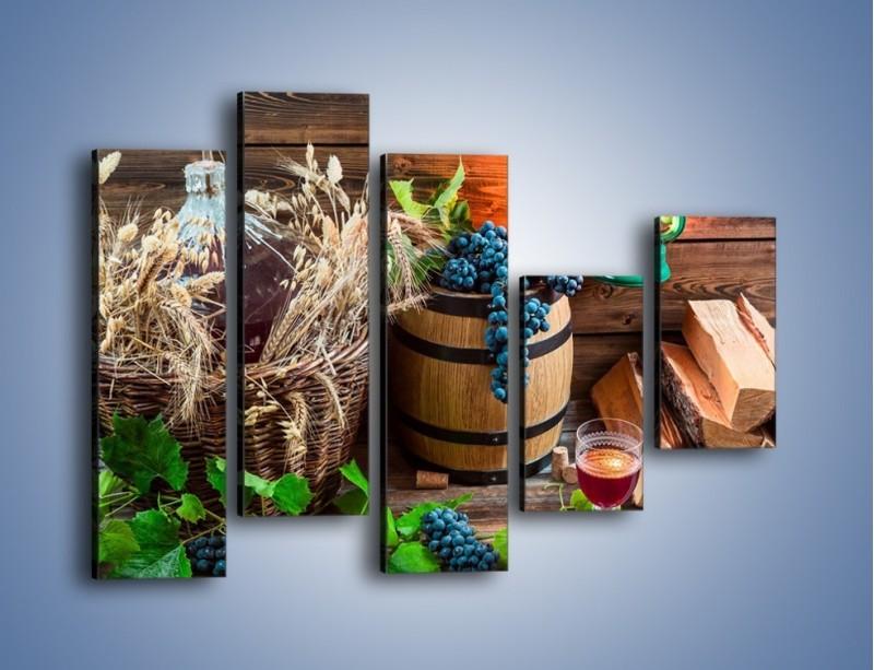 Obraz na płótnie – Wino według własnego przepisu – pięcioczęściowy JN202W4