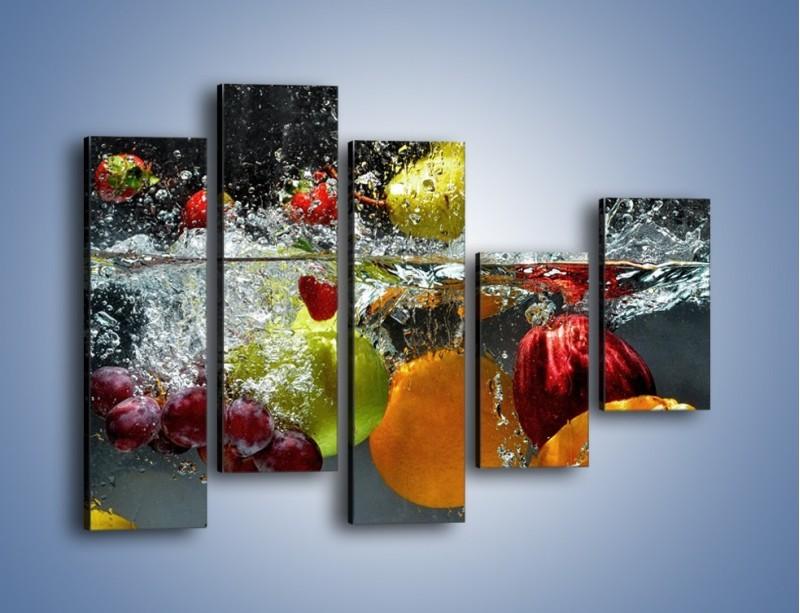 Obraz na płótnie – Głębokie owocowe zanurzenie – pięcioczęściowy JN253W4