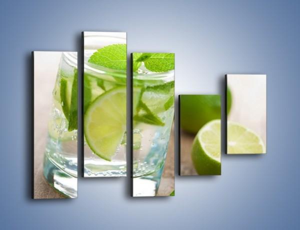 Obraz na płótnie – Limonkowy napój  – pięcioczęściowy JN262W4