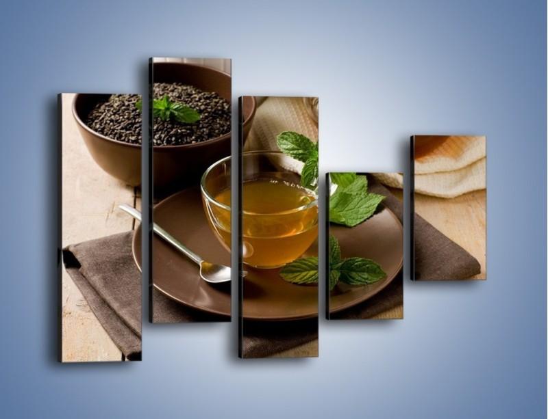 Obraz na płótnie – Filiżanka herbaty na poprawę humoru – pięcioczęściowy JN264W4