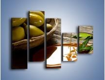 Obraz na płótnie – Bogactwa wydobyte z oliwek – pięcioczęściowy JN270W4