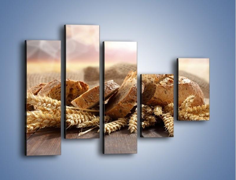 Obraz na płótnie – Świeży pszenny chleb – pięcioczęściowy JN287W4