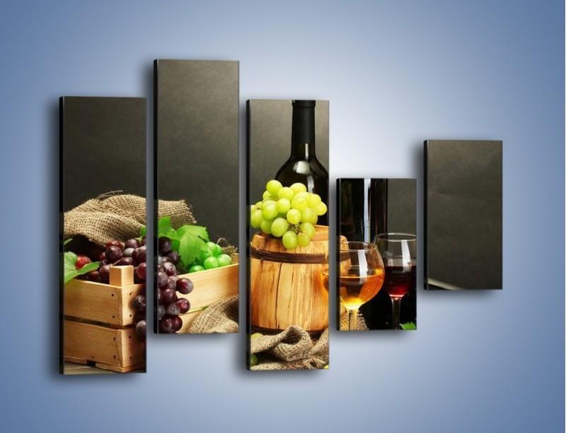 Obraz na płótnie – Wytrawne smaki wina – pięcioczęściowy JN289W4