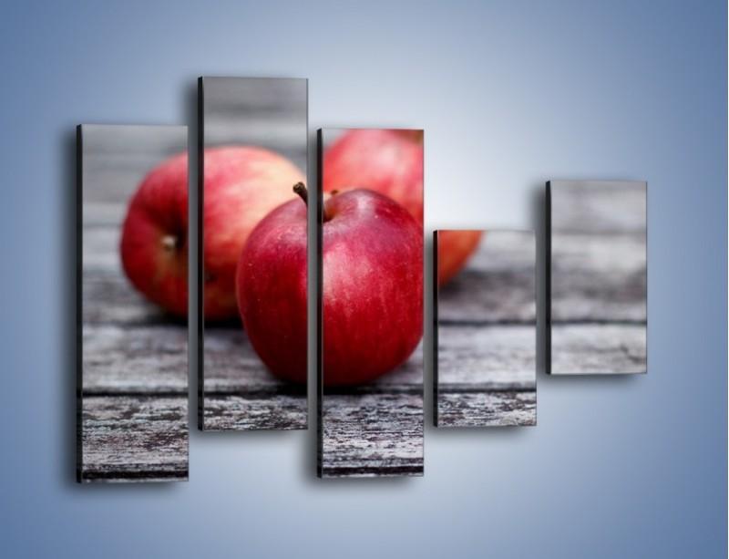 Obraz na płótnie – Jabłkowe zdrowie – pięcioczęściowy JN296W4