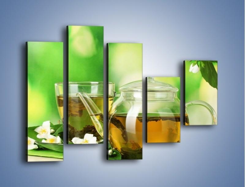 Obraz na płótnie – Herbaciane ukojenie – pięcioczęściowy JN316W4