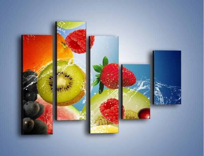 Obraz na płótnie – Owoce o poranku – pięcioczęściowy JN331W4