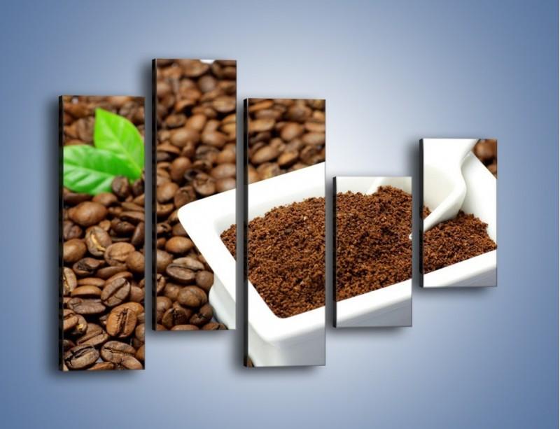 Obraz na płótnie – Zmielona kawa – pięcioczęściowy JN340W4