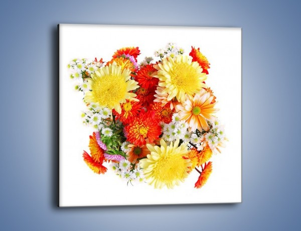 Obraz na płótnie – Bukiecik kwiatów z ogródka – jednoczęściowy kwadratowy K118