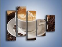 Obraz na płótnie – Czas na kawę – pięcioczęściowy JN353W4