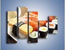 Obraz na płótnie – Azjatyckie posiłki – pięcioczęściowy JN355W4