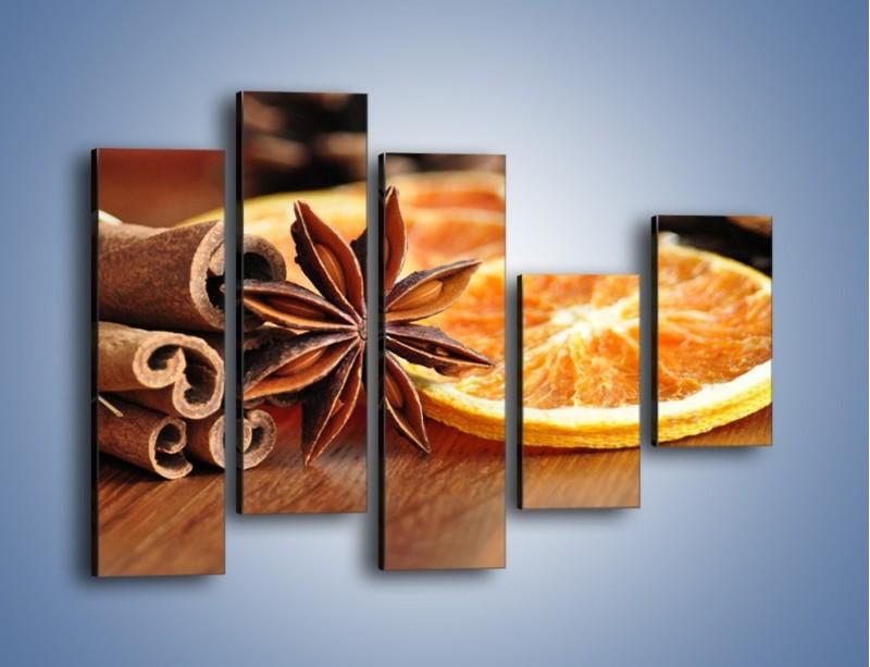 Obraz na płótnie – Pomarańcza z dodatkami – pięcioczęściowy JN357W4