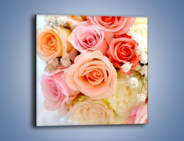 Obraz na płótnie – Dzienny bukiet różany – jednoczęściowy kwadratowy K123