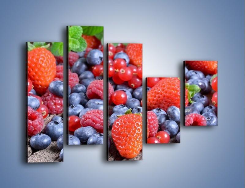 Obraz na płótnie – Owoce z działki – pięcioczęściowy JN422W4