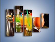 Obraz na płótnie – Barmańskie drinki – pięcioczęściowy JN433W4