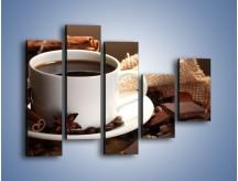 Obraz na płótnie – Kawa z dodatkiem czekolady – pięcioczęściowy JN453W4