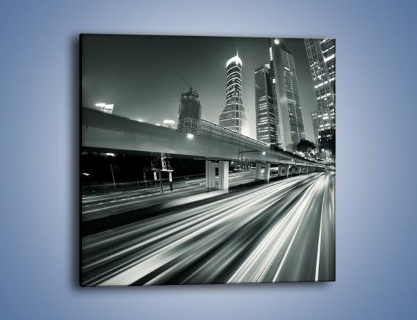 Obraz na płótnie – Miasto w odcieniach szarości – jednoczęściowy kwadratowy AM205