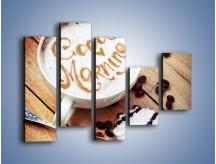 Obraz na płótnie – Kawa z bezą – pięcioczęściowy JN605W4