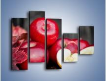 Obraz na płótnie – Czerwone jabłka późną jesienią – pięcioczęściowy JN619W4