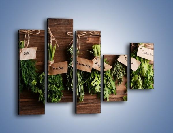 Obraz na płótnie – Świeże zioła w kuchni – pięcioczęściowy JN638W4