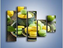 Obraz na płótnie – Cytrynowo-limonkowe ciasteczka – pięcioczęściowy JN724W4