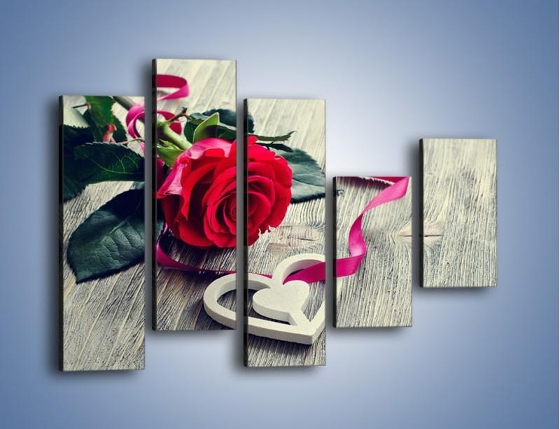 Obraz na płótnie – Od serca aż po różę – pięcioczęściowy K1013W4