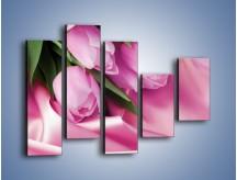 Obraz na płótnie – Atłas wśród tulipanów – pięcioczęściowy K152W4