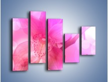Obraz na płótnie – Budzący dzień w różowym kwiecie – pięcioczęściowy K487W4