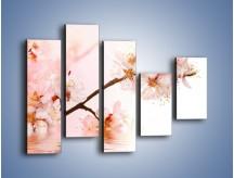 Obraz na płótnie – Blask kwiatów jabłoni – pięcioczęściowy K569W4