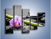 Obraz na płótnie – Bambus czy storczyk – pięcioczęściowy K686W4
