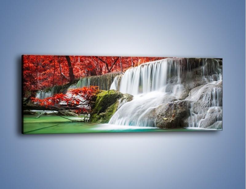 Obraz na płótnie – Zachwycić się naturą – jednoczęściowy panoramiczny KN1250A