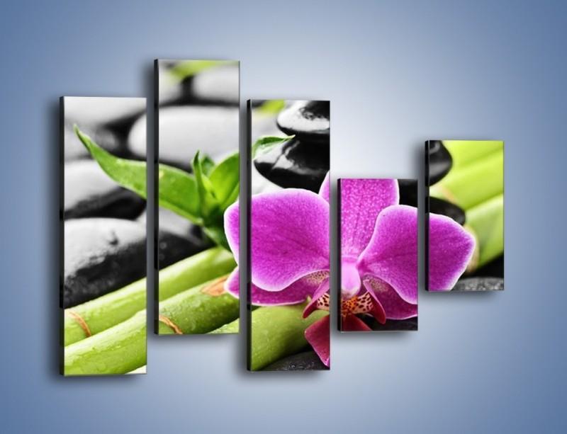 Obraz na płótnie – Idealnie ułożony kwiat – pięcioczęściowy K931W4