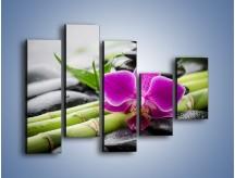 Obraz na płótnie – Bambusowe dodatki z przodu – pięcioczęściowy K954W4